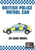British Police Patrol Car - 3D card model