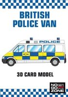 British Police Van - 3D card model