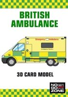 British Ambulance - 3D card model