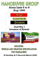 Manoeuvre Group Invasion of Kuwaite Gulf War I (1991) Lists 6 to 8