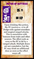 sellswords and spellslingers potions cards deck