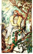Druid in the Forest clip art image
