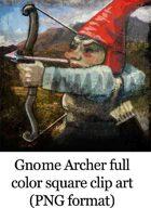 gnome archer clip art image