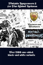 Printable Dungeoneers for Four Against Darkness Set 2 (1532 variants)