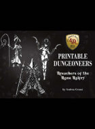 Printable Dungeoneers 3 for Four Against Darkness