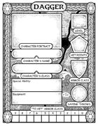 Dagger for Kids: Printable Character Sheet