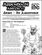 Appendix N Adventures Add-On #7: Grimic the Slaughterer