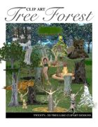 """Create your own Image"" Tree Forest Clipart"