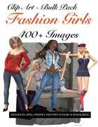 400 Fashion Girls Clip Art