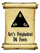 Art's Polyhedral Dice D4 Fonts