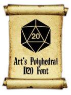Art's Polyhedral Dice D20 Font