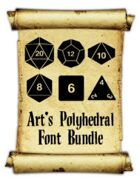 Art's Polyhedral Dice Font Bundle