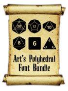 Art's Polyhedral Dice Font Bundle