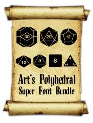 Art's Polyhedral Dice Super Font Bundle - Skullduggery Press | Polyhedral  and RPG Fonts | Wargame Vault