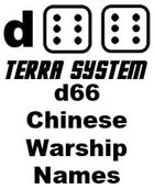 d66 Terra System: Chinese Warship Names