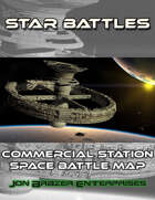 Star Battles: Commercial Space Station Space Battle Map (VTT)