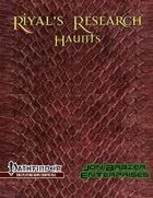 Riyal's Research: Haunts (PFRPG)
