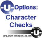 -U- Options: Character Checks
