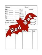 Character Sheet for Red Bat