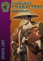 Fantasy Characters - Merchant stock art