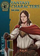 Fantasy Characters - Monk stock art