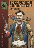 Steampunk Characters - Veteran stock art