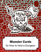 PLAYTEST How to Host a Dungeon Monster Cards
