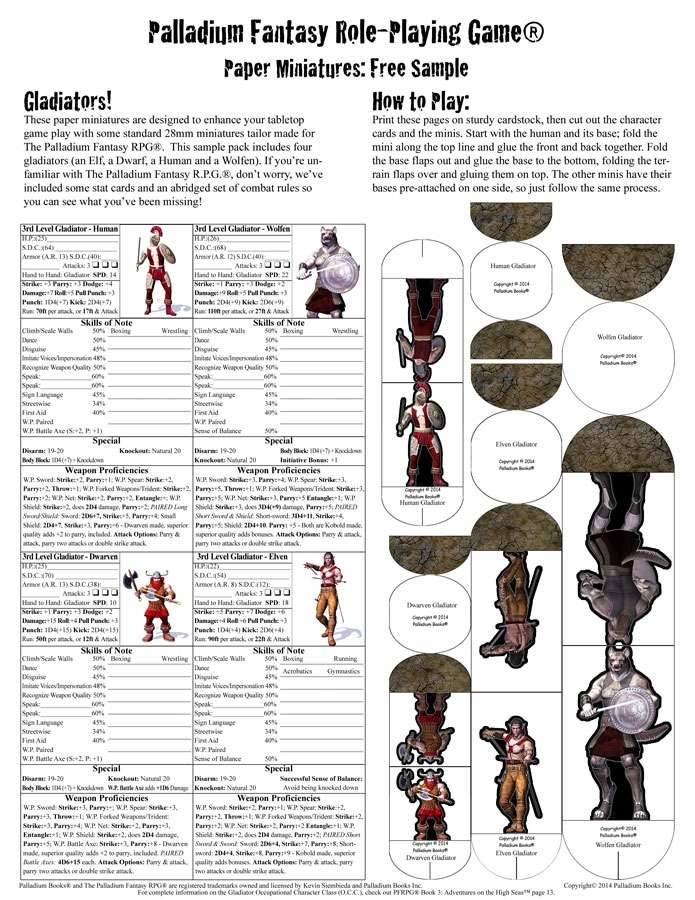 This is a graphic of Lively Free Paper Miniatures