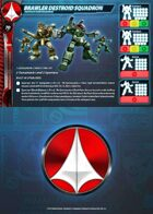Brawler Destroid Squadron Card for Robotech® RPG Tactics™
