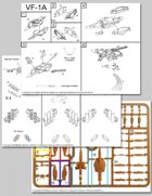 UEDF Valkyrie Fighter Mode Assembly Instructions for Robotech® RPG Tactics™