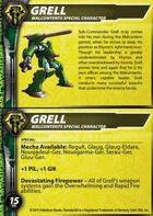 Malcontents Grell Special Character Card for Robotech® RPG Tactics™