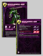 Zentraedi Nousjadeul-Ger Male Power Armor Stat Card for Robotech® RPG Tactics™