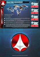 UEDF Valkyrie Squadron Core Force Card (Updated!) for Robotech® RPG Tactics™