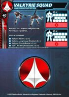 UEDF Valkyrie Squad Support Card (Updated!) for Robotech® RPG Tactics™