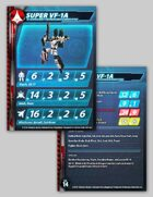 UEDF Super VF-1A Stat Card for Robotech® RPG Tactics™