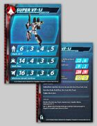 UEDF Super VF-1J Stat Card for Robotech® RPG Tactics™