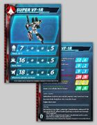 UEDF Super VF-1R Stat Card for Robotech® RPG Tactics™