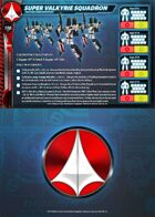 UEDF Super Valkyrie Squadron Core Force Card for Robotech® RPG Tactics™