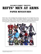 Rifts® Paper Miniatures: Men at Arms