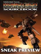 Robotech® The Masters Saga™ Sourcebook Sneak Preview