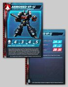 UEDF Armored VF-1J Stat Card for Robotech® RPG Tactics™