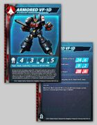 UEDF Armored VF-1D Stat Card for Robotech® RPG Tactics™
