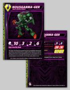 Zentraedi Nousgarma-Ger Variant Male Power Armor Stat Card for Robotech® RPG Tactics™