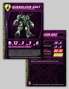 Zentraedi Queadluun-Gult Variant Female Power Armor Stat Card for Robotech® RPG Tactics™