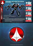 UEDF Armored Valkyrie Squadron Card for Robotech® RPG Tactics™
