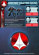 UEDF Armored Valkyrie Squad Support Card for Robotech® RPG Tactics™