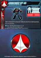 UEDF Armored VF-1D Support Card for Robotech® RPG Tactics™