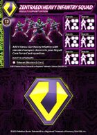 Zentraedi Heavy Infantry Squad Support Card for Robotech® RPG Tactics™