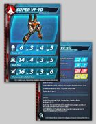 UEDF Super VF-1D Stat Card for Robotech® RPG Tactics™
