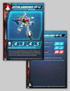 UEDF Jotun Armored VF-1J Stat Card for Robotech® RPG Tactics™